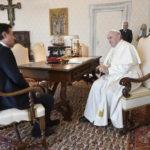 Il Papa incontra il premier Giuseppe Conte